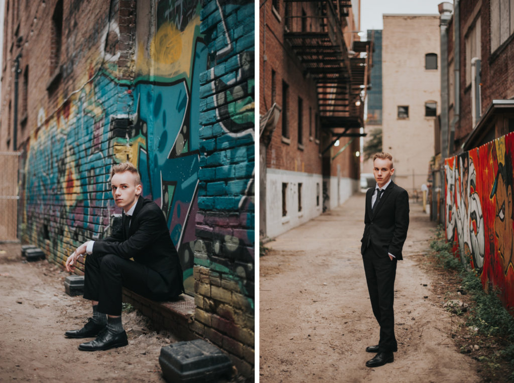 diptych of high school senior