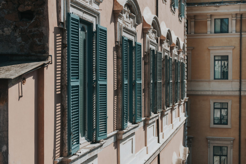 Shuttered windows in Rome